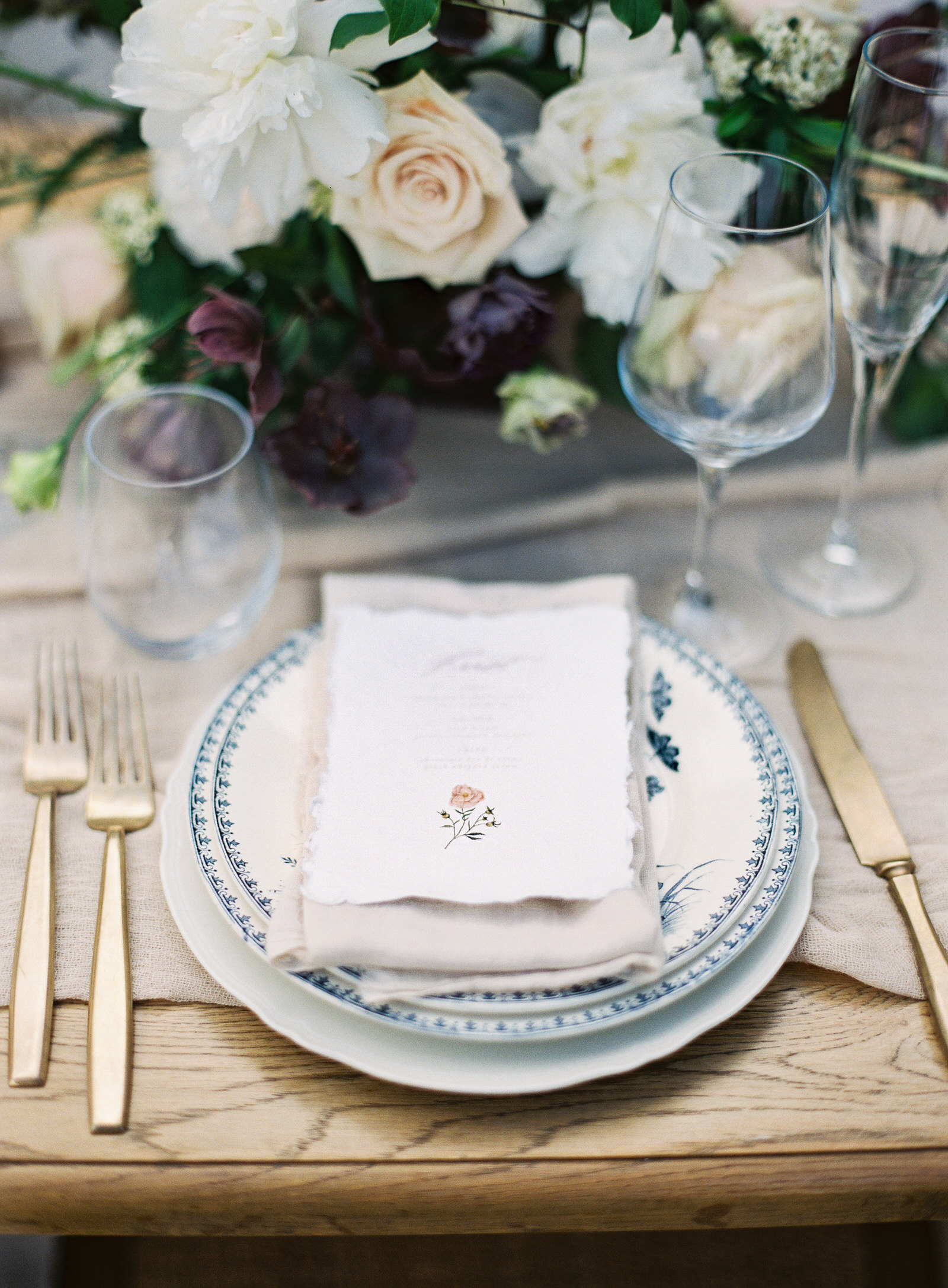 table top - provence france wedding